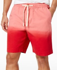 Tommy Hilfiger Men's Daniel Dip Dye Cotton Shorts Tango Red