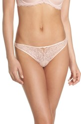 B.Tempt'd By Wacoal Lace Thong Rose Smoke