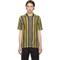 Cmmn Swdn Green Knitted Wes Shirt