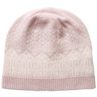 Pure Collection Josie Cashmere Fair Isle Hat Oyster Soft White