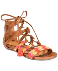 Kenneth Cole Reaction Women's Lost Look 2 Lace Up Gladiator Sandals Women's Shoes Tan