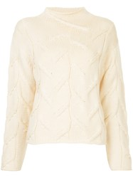 Chanel Vintage Fisherman Knit Jumper Nude And Neutrals