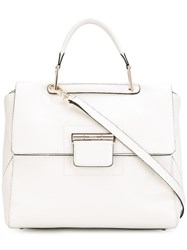 Furla Top Handle Shoulder Bag Women Leather One Size White