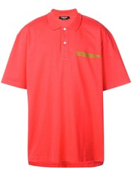 Calvin Klein 205W39nyc Oversized Polo Shirt Red