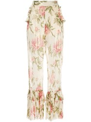Alice Mccall Floral Salvatore Pants Black
