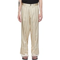 Ann Demeulemeester Off White And Black Devon Trousers