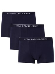 Ralph Lauren Polo Stretch Cotton Trunks Pack Of 3 Navy