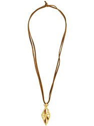 Cathy Waterman 'Tree Of Life' Pendant Necklace Brown