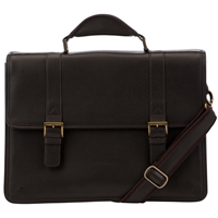 John Lewis Dalaman Briefcase Brown