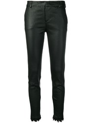 Federica Tosi Leather Trousers Black