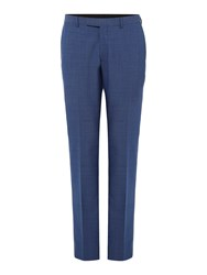 Kenneth Cole Men's Tompkins Slim Fit Pin Dot Suit Trouser Light Blue