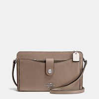 Coach Messenger With Pop Up Pouch In Colorblock Leather Silver Stone Multi
