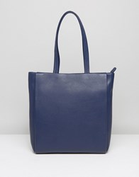 Jaeger Icon Leather Bag Navy