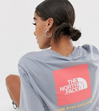 The North Face Red Box T Shirt In Grey