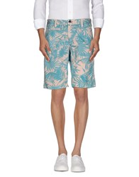 Jaggy Trousers Bermuda Shorts Men Turquoise