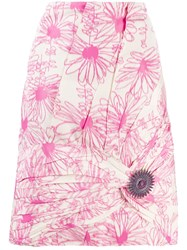 Calvin Klein 205W39nyc Floral Pink Skirt