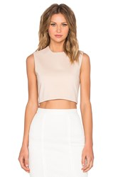 Blaque Label Knit Crop Top Peach