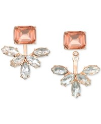 Jewel Badgley Mischka Crystal And Stone Ear Jacket Earrings Rose Gold