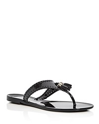 Jack Rogers Alana Jelly Thong Sandals Black