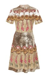 Temperley London Farewell Mini Dress Metallic