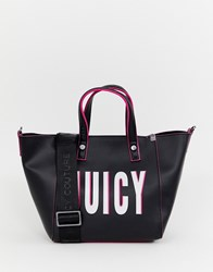 Juicy Couture Soft Logo Tote Bag Black