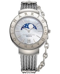 Charriol Women's Swiss St. Tropez Stainless Steel Cable Bracelet Watch 35Mm St35cs.560.001