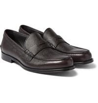 Hugo Boss Collec Pebble Grain Leather Penny Loafers
