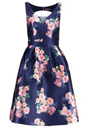 Chi Chi London Brigit Cocktail Dress Party Dress Navy Dark Blue