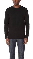 Sunspel Crew Neck Sweater Black