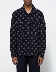 Engineered Garments Cpo Shirt Navy Grey Polka Dot Navy Grey