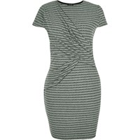 River Island Womens Ri Plus Green Ruched Bodycon Dress