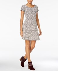 Maison Jules Printed Fit And Flare Dress Only At Macy's Egret Combo