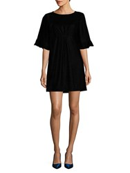 Ella Moss Velvet Flutter Sleeve Dress Black