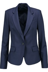 Theory Gabe Wool Blend Twill Blazer Storm Blue