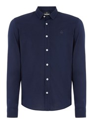 Duck And Cover Men's Birch Long Sleeve Shirt Navy