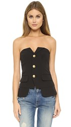 Laveer Button Up Bustier Black