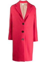 Semicouture Single Breasted Fitted Coat Red
