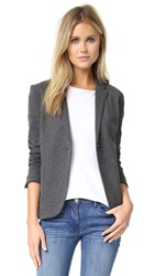 Getting Back To Square One Blazer Charcoal Grey