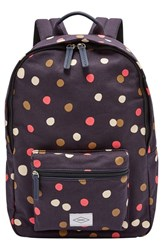 Fossil 'Ella' Canvas Backpack Beige Navy