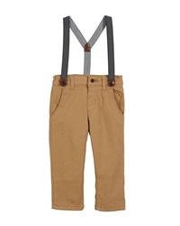 Mayoral Chino Pants W Zigzag Suspenders Size 6 36 Months Beige