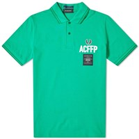 Fred Perry X Art Comes First Embroidered Polo Green