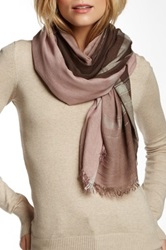 Leigh And Luca Classic Rectangle Fringe Scarf Brown