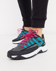 The North Face Trail Escape Crest Sneaker In Black Turquoise