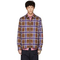Schnayderman's Pink And Red Large Check Zip Shirt