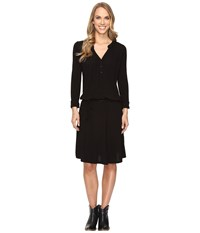 Stetson Jet Black Rayon Jersey Dress Black Women's Dress