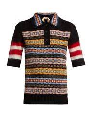 N 21 Patterned Wool Blend Polo Shirt Multi