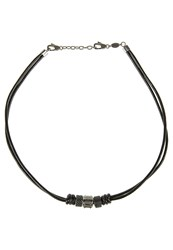 Fossil Necklace Schwarz Black