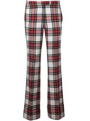 Rossella Jardini Checked Flared Trousers Multicolour
