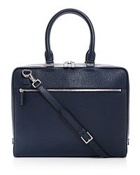 Salvatore Ferragamo Revival Slim Laptop Brief Ultra Marine