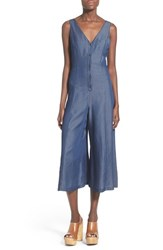 Women's Astr 'Ziggy' Chambray Jumpsuit